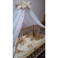 Набор в кроватку с балдахином