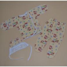 Комплект 3-ка для новорожденных (байковый) р.56