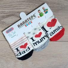 """Тонкие носочки """"Я люблю семью"""""""
