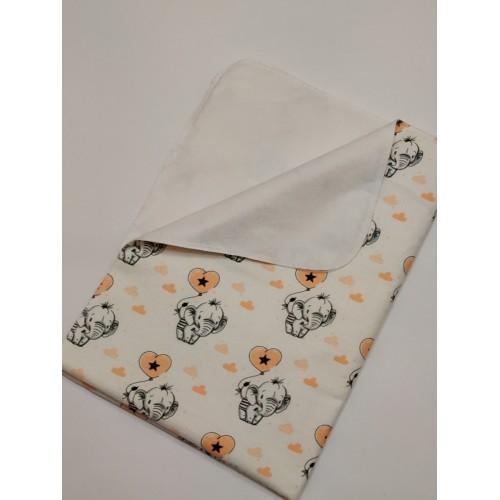 Купить оптом Непромокаемая пеленка (байковая)  50Х75 см
