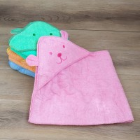 полотенце - уголок с капюшоном для купания 90 х 90